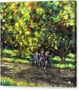 Eoin Miraim And Cian In Botanic Gardens Acrylic Print