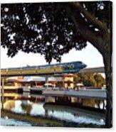 Epcot Tron Monorail Acrylic Print by Carol  Bradley