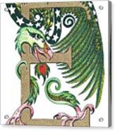 Epsilon Eagle In Green And Gold Acrylic Print