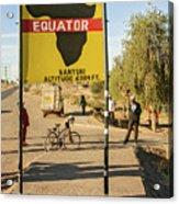Equator In Kenya Acrylic Print