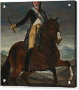 Equestrian Portrait Of Fernando Vii Acrylic Print