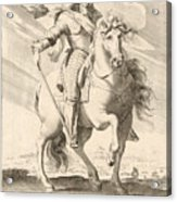 Equestrian Portrait Of Louis Xiii Of France Acrylic Print