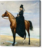 Equestrian Portrait Of Mademoiselle Croizette Acrylic Print