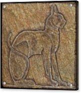 Eqyptian Cat Relief Acrylic Print