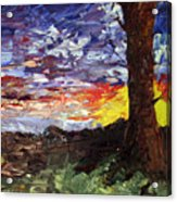 Erda Sunset Acrylic Print