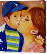 Eric And Mom, 8x10, Oil, '07 Acrylic Print