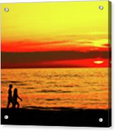 Erie Beach Sunset Acrylic Print