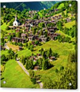 The Alpine Village Of Ernen In Switzerland  Acrylic Print