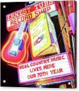 Ernest Tubb Record Shop Neon - Nashville Tennessee Acrylic Print