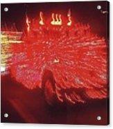 Ernst Haas Homage Fire Truck Electric Lights Xmas Parade Casa Grande Az 2001 Acrylic Print