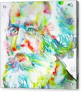 Ernst Haeckel - Watercolor Portrait Acrylic Print