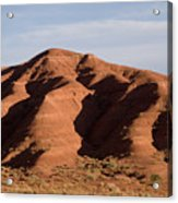Eroded Hills In Sunset Light Acrylic Print