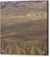 Eroded Hills Acrylic Print