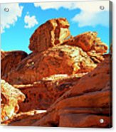 Eroded Red Sandstone Acrylic Print