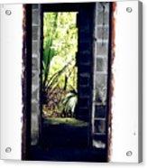 Eroding Door Leading To The Forgotten  Acrylic Print