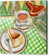 Eroica Britannia Bakewell Pudding And Cup Of Tea On Green Acrylic Print