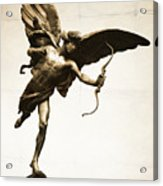 Eros Statue Acrylic Print by Neil Overy