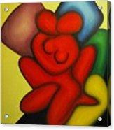 Erotic Embrace Acrylic Print
