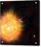 Eruption - Solar Storm Acrylic Print