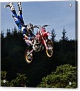 Escaping Motorbike Acrylic Print