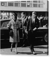 Escorted By President Kennedy Acrylic Print by Everett