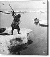 Eskimo Fishermen Acrylic Print