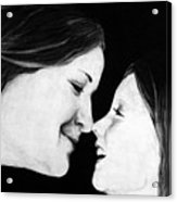 Eskimo Kisses Acrylic Print by Corina Bishop