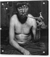 Eskimo Smoking Pipe, Photograph Acrylic Print by Everett