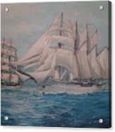 Esmerelda And The Sagres Tall Ships Acrylic Print