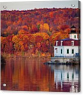 Esopus Lighthouse In Late Fall #1 Acrylic Print