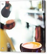 Espresso Expresso Italian Coffee Cup With Machine  Acrylic Print
