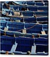 Essaouira Blue Boats Acrylic Print