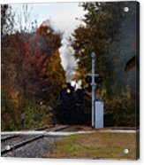 Essex Steam Train Coming Into Fall Colors Acrylic Print