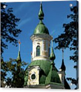 Estonian Church Orthodox And Baroque Acrylic Print