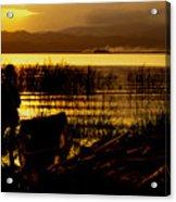 Ethiopia Catching Live-bait At Sundown On Lake Chamo Acrylic Print