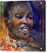 Ethnic Woman Portrait Acrylic Print
