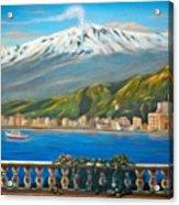 Etna Sicily Acrylic Print by Italian Art