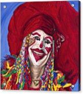 Eureka Springs Clown Acrylic Print by Patty Vicknair