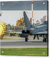Eurofighter Typhoon 2000 With Parachute Acrylic Print
