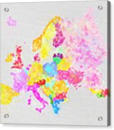 Europe Map Acrylic Print by Setsiri Silapasuwanchai