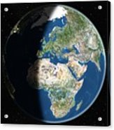 Europe, Satellite Image Acrylic Print by Planetobserver