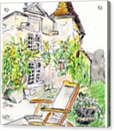European Chateau Lounge Chair Acrylic Print