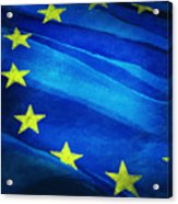 European Flag Acrylic Print by Setsiri Silapasuwanchai