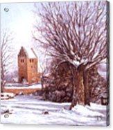 European Winter Scene Acrylic Print