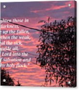Evangelism Prayer Acrylic Print