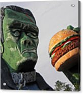 Even Frankie Loves A Burger Acrylic Print
