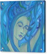 Even Mermaids Get The Blues Acrylic Print