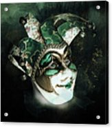 Even With Her Mask, Her Eyes Give Her Away Acrylic Print