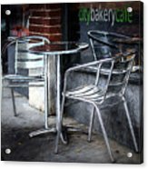 Evening At A Sidewalk Cafe Acrylic Print