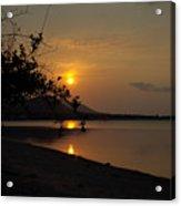 evening at Bophut Bay Acrylic Print